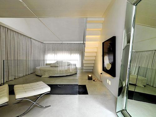 Minimalistische open slaapkamer slaapkamer idee n - Slaapkamer open badkamer ...