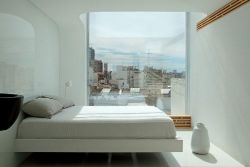 minimalistische slaapkamer met ensuite badkamer  slaapkamer ideeën, Meubels Ideeën