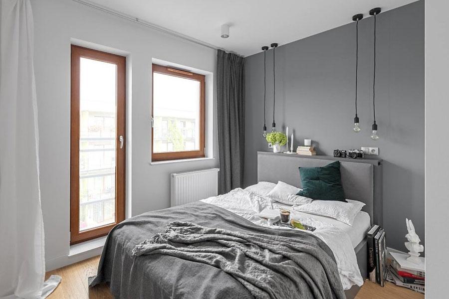 Modern ontwerp voor compacte slaapkamer