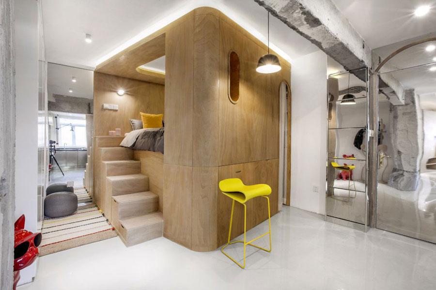 Moderne bedstede slaapkamer