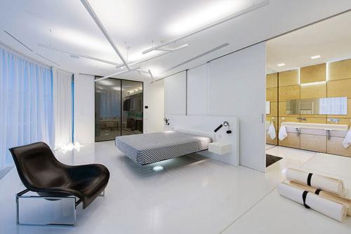 Moderne designhotel geïnspireerde slaapkamer