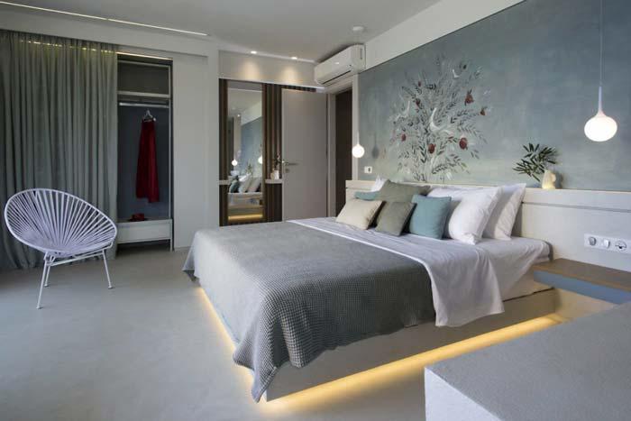 Moderne Griekse slaapkamer van luxe vakantieresort