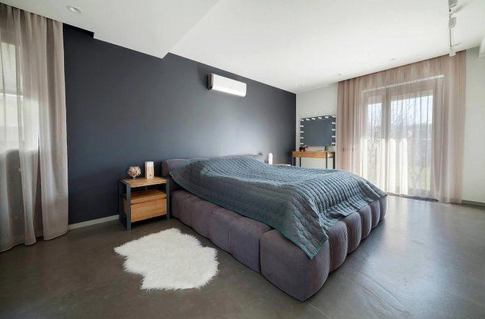 Moderne industriële slaapkamer van loft woning | Slaapkamer ideeën