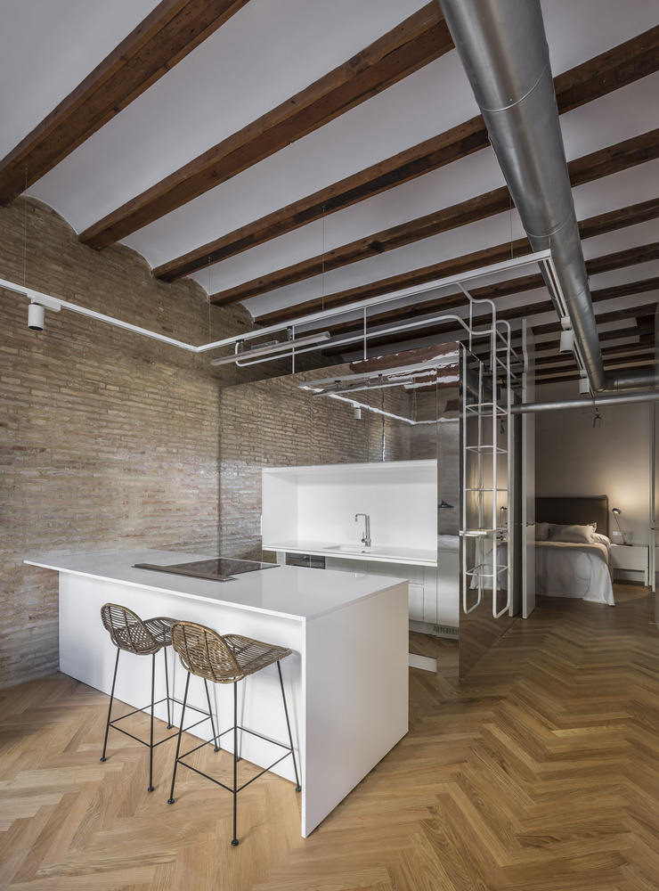 moderne karakteristieke slaapkamer uit valencia