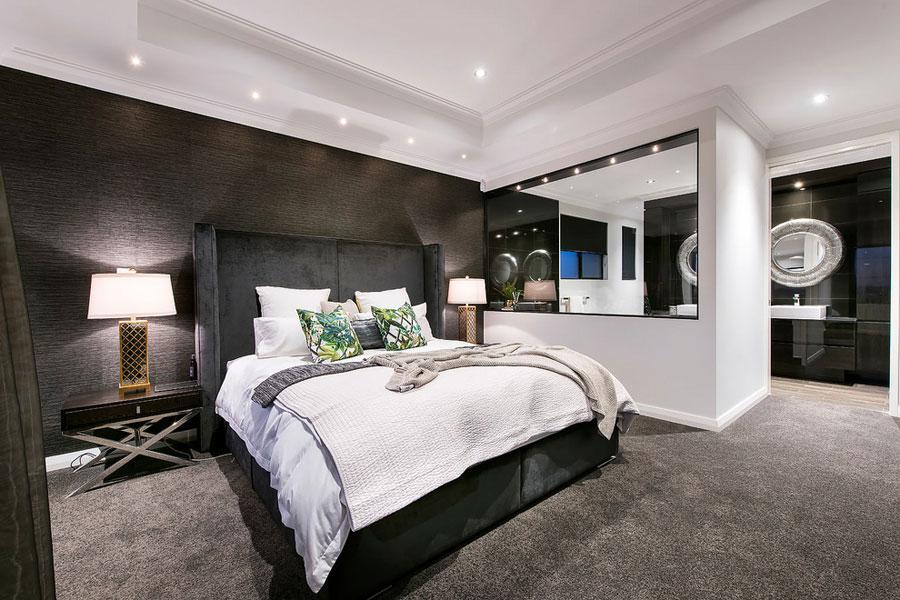 Moderne luxe slaapkamer met een klassiek chique afwerking