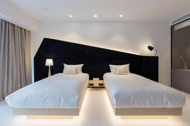 Moderne minimalistische kamers van het Wheat Youth Arts Hotel