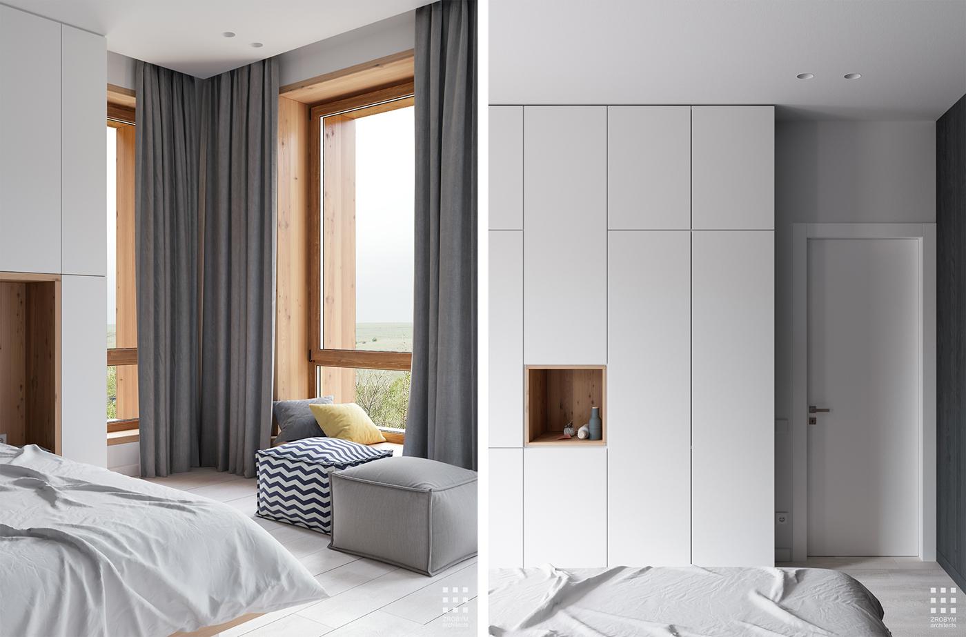 Moderne slaapkamer 3d ontwerpen door ZROBYM architects | Slaapkamer ...