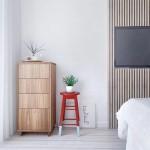 Moderne slaapkamer met blauw als hoofdkleur