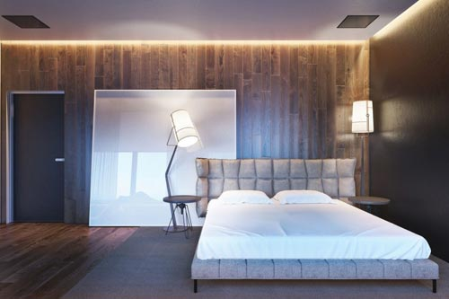 Moderne slaapkamer concept ontwerp