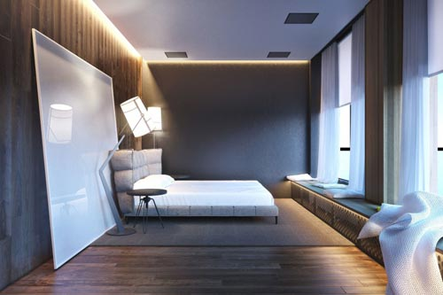 Moderne slaapkamer concept ontwerp  Slaapkamer ideeën