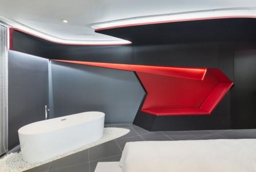 Moderne slaapkamer van Hotel 'The Designers'