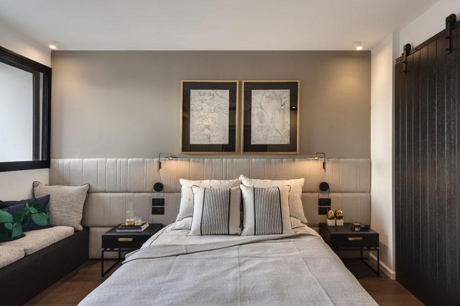 Moderne slaapkamer met een chique afwerking