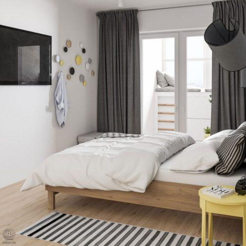 Moderne slaapkamer met een stoer tintje door de architecten van zrobym slaapkamer idee n - Moderne slaapkamer behang ...