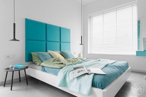 Slaapkamer Inspiratie Turquoise : Moderne slaapkamer met turquoise ...