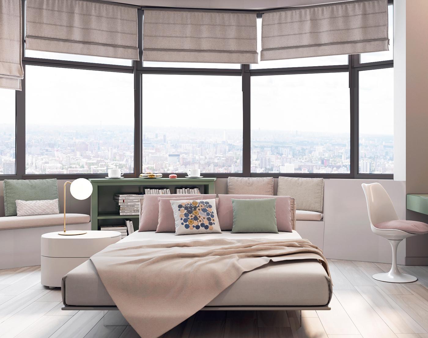 Slaapkamer Met Pastelkleuren : Moderne slaapkamer met zachte pastelkleuren slaapkamer ideeën