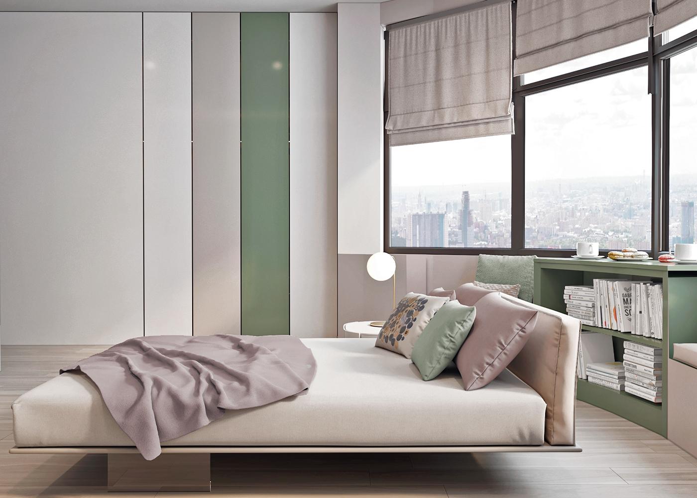 Moderne Slaapkamer Ideeen : Moderne slaapkamer met zachte pastelkleuren slaapkamer ideeën