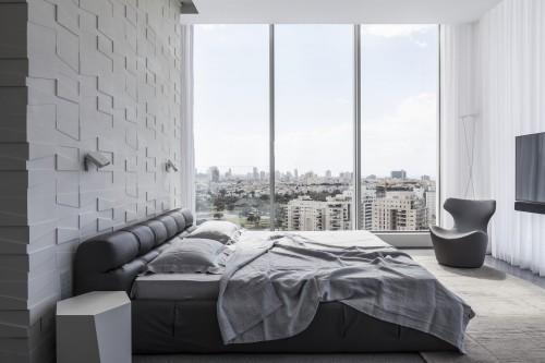 Moderne Strakke Slaapkamer : Moderne slaapkamer met structuur muur slaapkamer ideeën