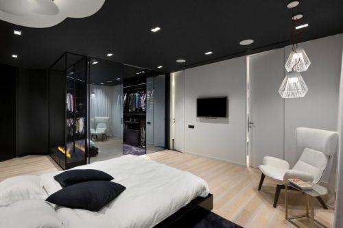Slaapkamer Kleuren Grijs : Wit grijze slaapkamer lichte met kastje en ...