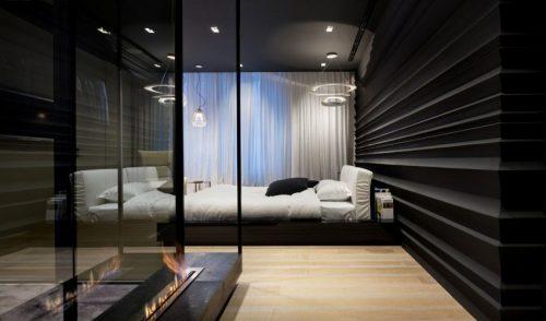 Zwart Wit Kinderslaapkamer : Moderne zwart wit slaapkamer met inloopkast slaapkamer ideeën