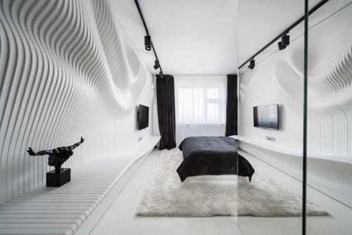 20 . Moderne zwart witte slaapkamer Slaapkamer ideeën
