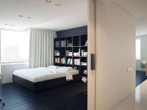 Moderne zwart witte slaapkamer  Slaapkamer ideeën