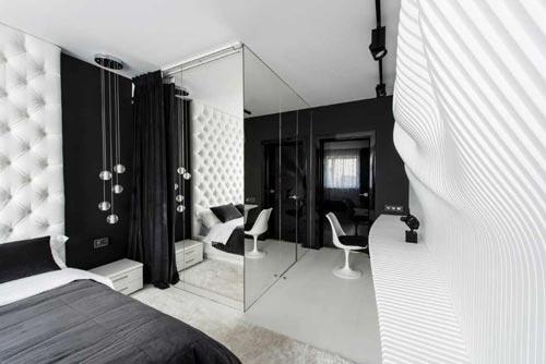 17 . Moderne zwart witte slaapkamer Slaapkamer ideeën
