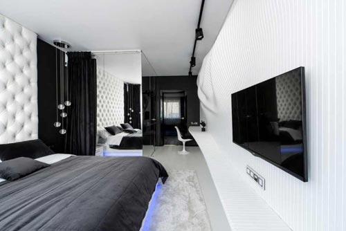 slaapkamer ideeen zwart bed consenza for