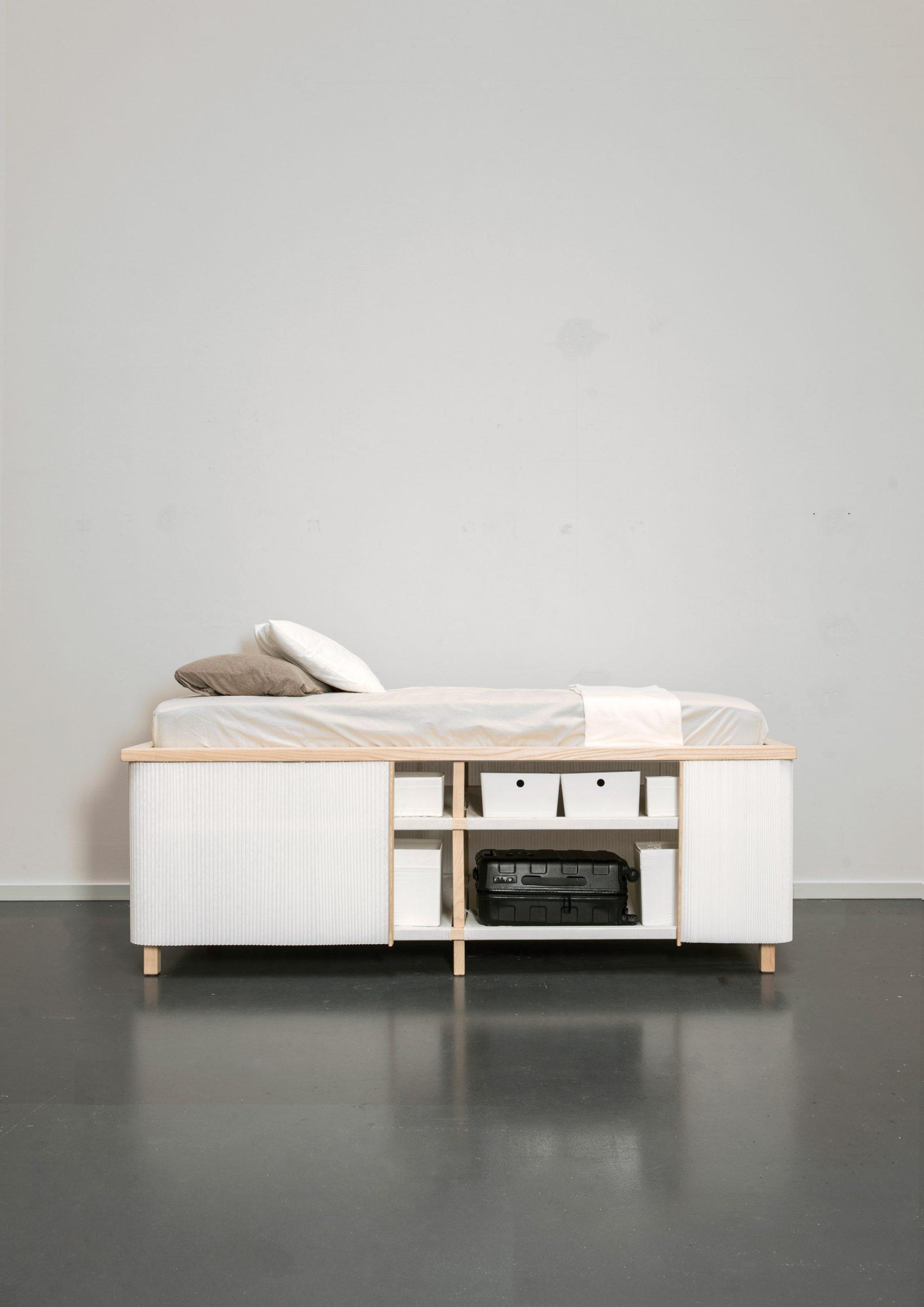 Mooi en praktisch bed met opbergruimte door ontwerper Yesul Jang