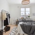 Mooi en sfeervol ingerichte Scandinavische slaapkamer