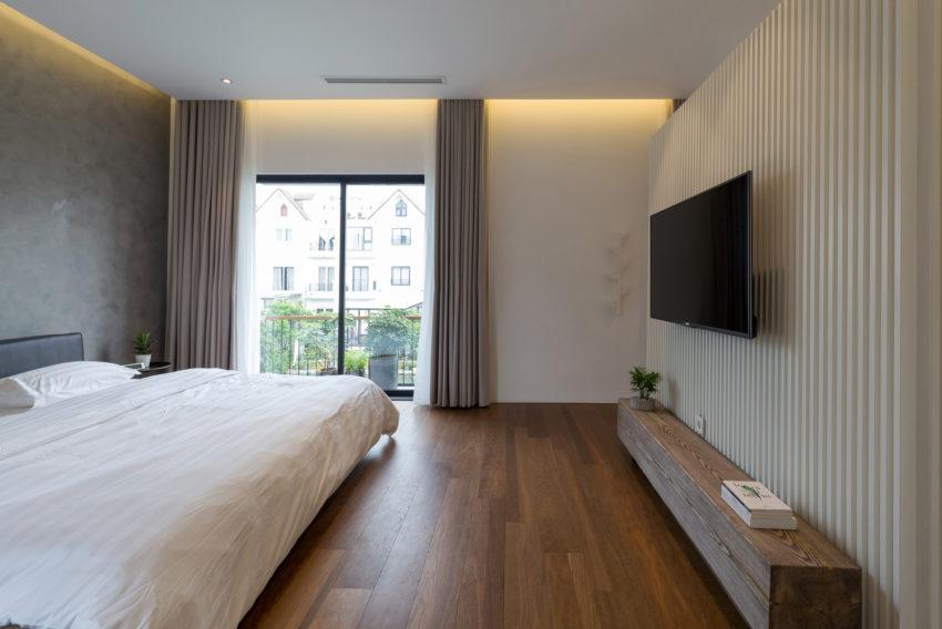 Mooi slaapkamer ontwerp met inloopkast en badkamer en suite