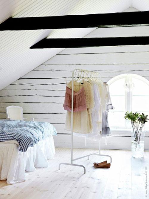 Mooie kledingrek slaapkamer