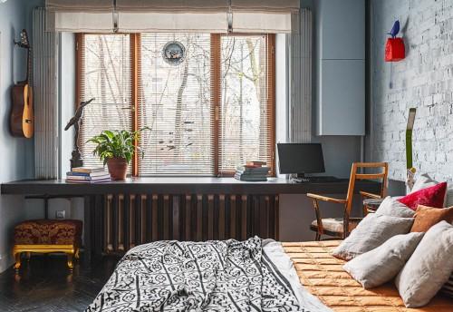 Kleuren Wanden Slaapkamer : Mooie kleuren in een russische slaapkamer ...