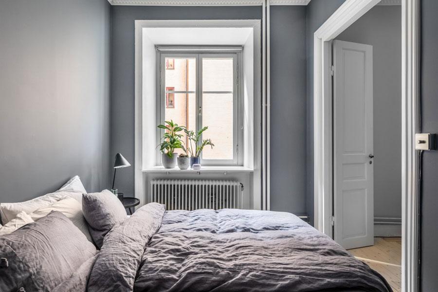 Slaapkamer Ideeen Muren.Mooie Minimalistische Slaapkamer Met Grijze Muren Slaapkamer Ideeen