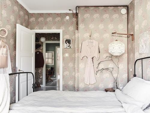 Mooie Slaapkamer Ideeën : Mooie slaapkamer met bloemetjesbehang ...