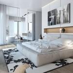 Mooie slaapkamer ideeën van Ando Studio Slaapkamer met paarse ...