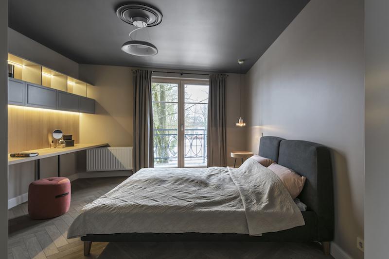 Slaapkamer Plafond Ideeen : Mooie slaapkamer met grijze muren en een grijs plafond slaapkamer
