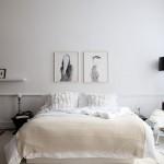 Muurdecoratie achter het bed
