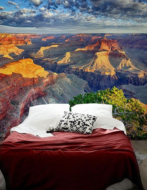 Natuur fotobehang in de slaapkamer