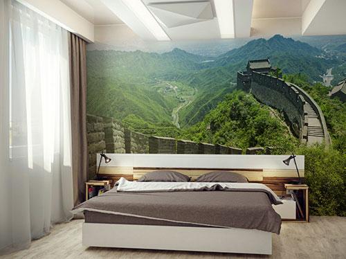 Natuur fotobehang in de slaapkamer   Slaapkamer idee u00ebn