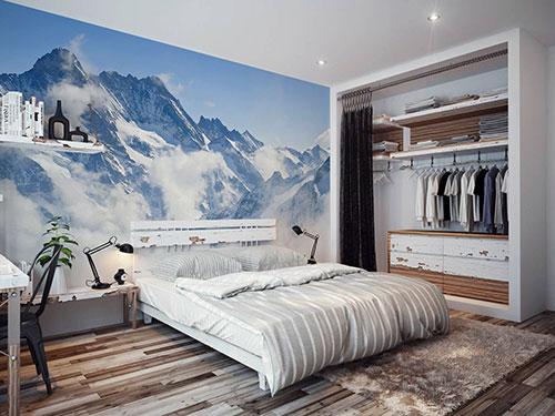 slaapkamer behang ideeën : 100x Slaapkamer inspiratie Interieur ...