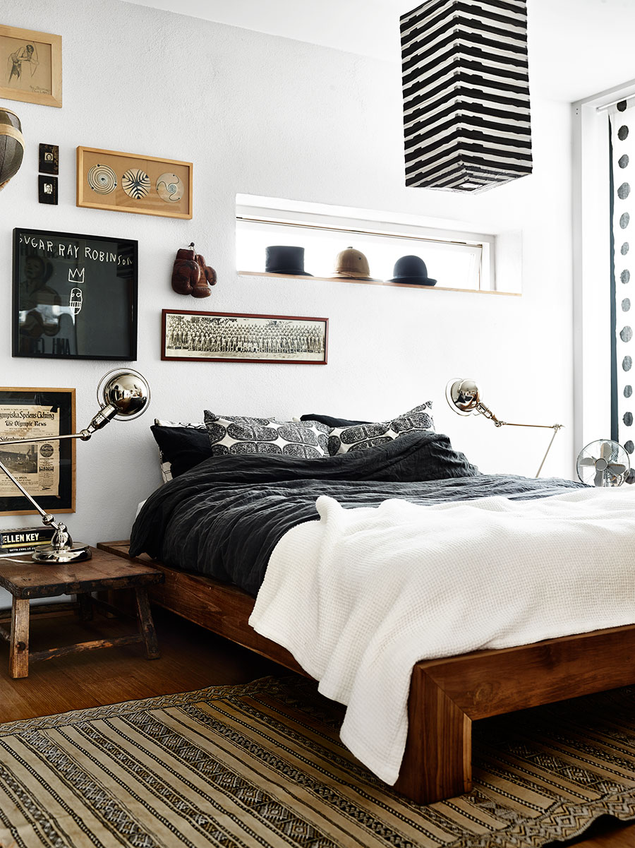Natuurlijke elementen in de slaapkamer van Mat