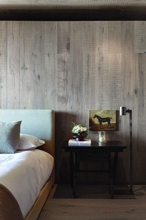 Natuurlijke kleuren slaapkamer : Natuurlijke slaapkamer met houten ...