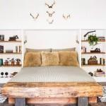 Natuurlijke slaapkamers van wintersport villa