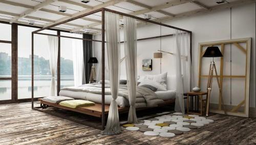 Hemelbed In Slaapkamer : Nonchalante onafgemaakte slaapkamer ontwerpen slaapkamer ideeën
