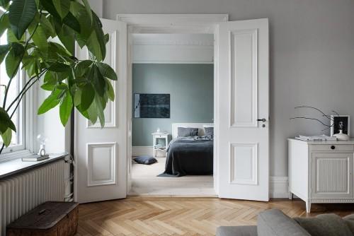 Kleur Slaapkamer Muur : ... muren in een Scandinavische slaapkamer ...
