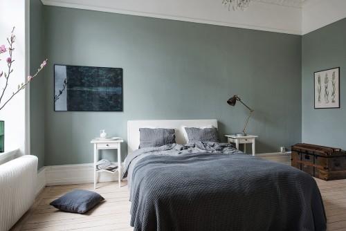 ... muren in een Scandinavische slaapkamer  Slaapkamer ideeën