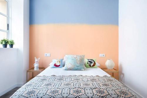 slaapkamer muur blauw  consenza for ., Meubels Ideeën