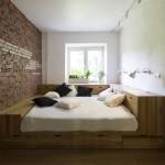Op maat gemaakte bedkast in kleine slaapkamer