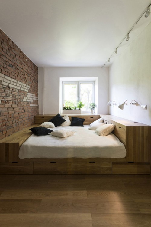Op maat gemaakte bedkast in kleine slaapkamer | Slaapkamer ideeën