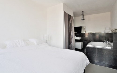 Moderne slaapkamer slaapkamer idee n - Slaapkamer open badkamer ...